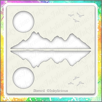 Inkylicious MOUNTAIN REFLECTIONS Stencil Set 829550