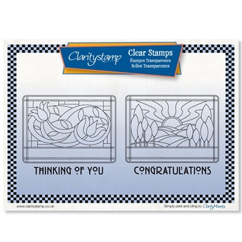 Claritystamp ART NOUVEAU CONGRATULATIONS AND THINKING OF YOU Clear Stamps stawo10568a5