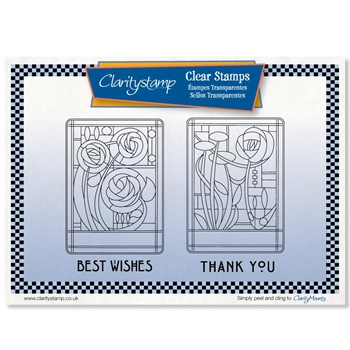 Claritystamp ART NOUVEAU THANK YOU AND BEST WISHES Clear Stamps stawo10569a5