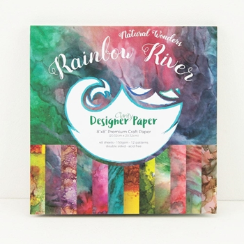 Claritystamp RAINBOW RIVER 8x8 Paper Pad Natural Wonders Collection accca3053988