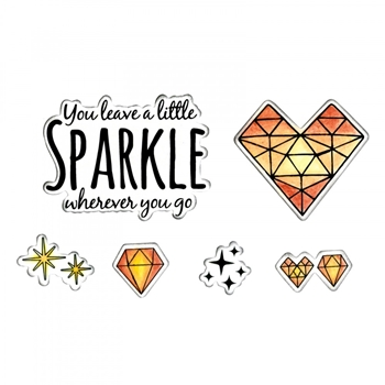 Sizzix Framelits SPARKLE Combo Die and Stamp Set 662683