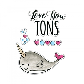 Sizzix Framelits LOVE YOU TONS Combo Die and Stamp Set 662681