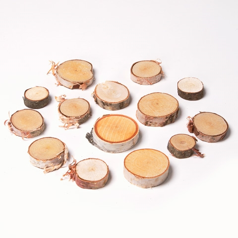 Natural WHITE BIRCH Wood Pieces Medium zoom image