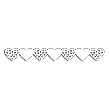 Penny Black HEARTS BORDER Thin Metal Creative Dies 51-408