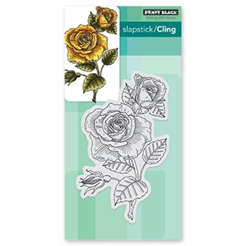 Penny Black Cling Stamp CRIMSON BLUSH Rubber Unmounted 40-511