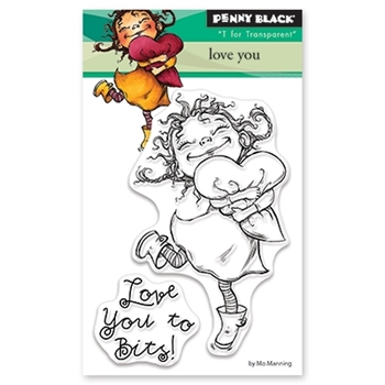 Penny Black Clear Stamps LOVE YOU 30-459