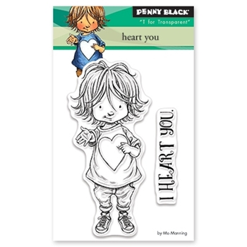 Penny Black Clear Stamps HEART YOU 30-458