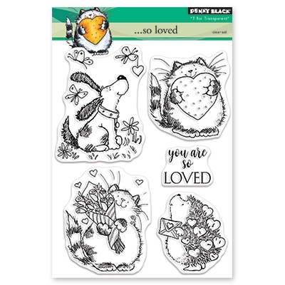 Penny Black Clear Stamps SO LOVED 30-457 Preview Image