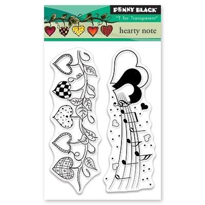 Penny Black Clear Stamps HEARTY NOTE 30-454 zoom image