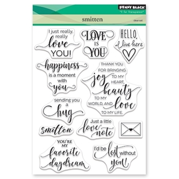 Penny Black Clear Stamps SMITTEN 30-455