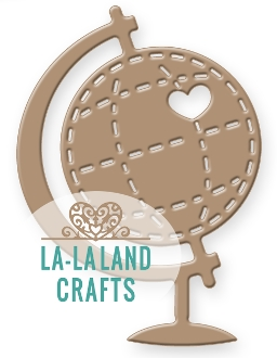 La-La Land Crafts HEART GLOBE Die 8342* Preview Image