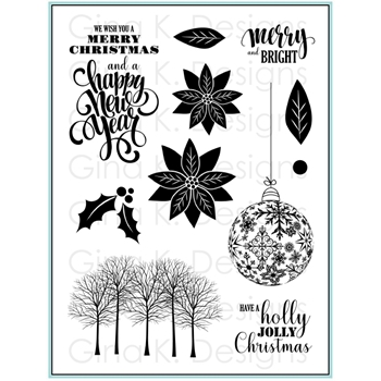 Gina K Designs MERRY AND BRIGHT Clear Stamps 1939