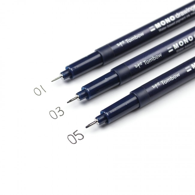 Tombow MONO DRAWING PEN Set 66403 zoom image
