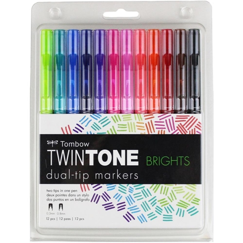 Tombow BRIGHTS Twintone Marker Set 61500 Preview Image