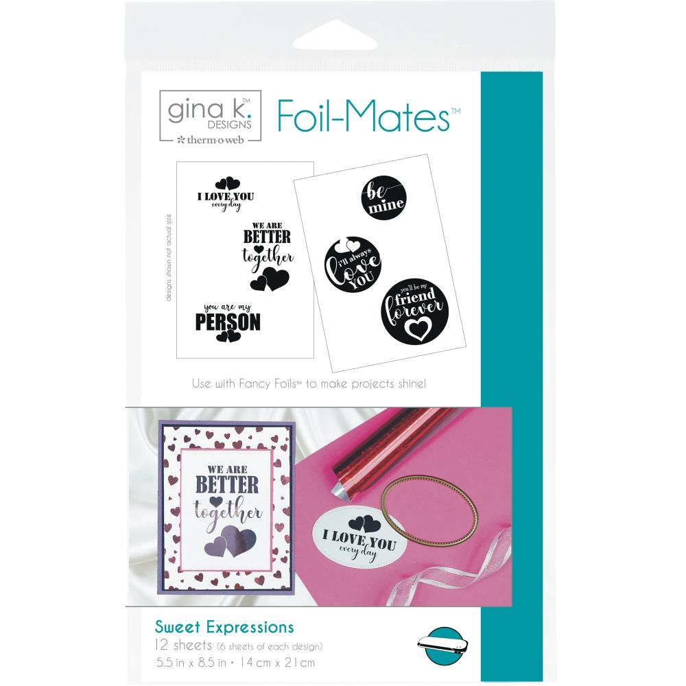 Therm O Web Gina K Designs SWEET EXPRESSIONS Foil-Mates Sheets 18066 zoom image