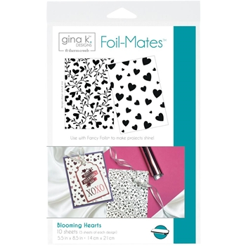 Therm O Web Gina K Designs BLOOMING HEARTS Foil-Mates Sheets 18065