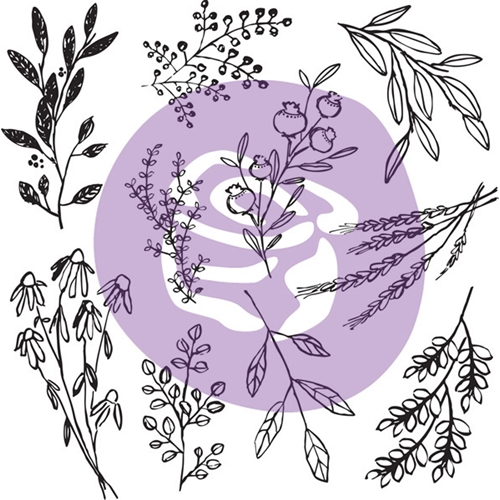 Prima Marketing SWEET SPRIGS 12 x 12 Decor Clear Stamp Set 816551 Preview Image