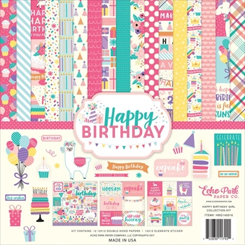 Echo Park HAPPY BIRTHDAY GIRL 12 x 12 Collection Kit hbg140016