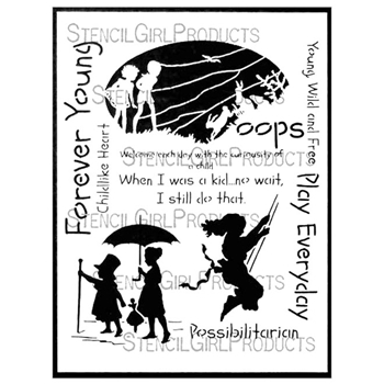 StencilGirl PLAY EVERYDAY DRESS UP 9x12 Stencil L599