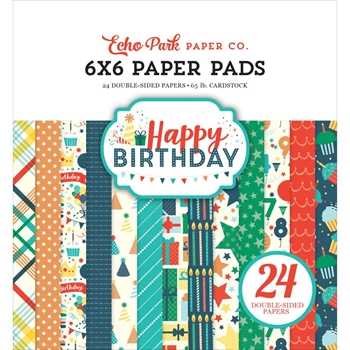 Echo Park HAPPY BIRTHDAY BOY 6 x 6 Paper Pad hbb141023