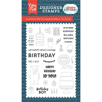 Echo Park HAPPY BIRTHDAY TO YOU Clear Stamps hbb141043