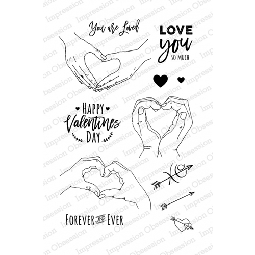 Impression Obsession Clear Stamp LOVE HANDS Set CL814 Preview Image