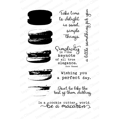 Impression Obsession Clear Stamp MACARON Set CL808 Preview Image