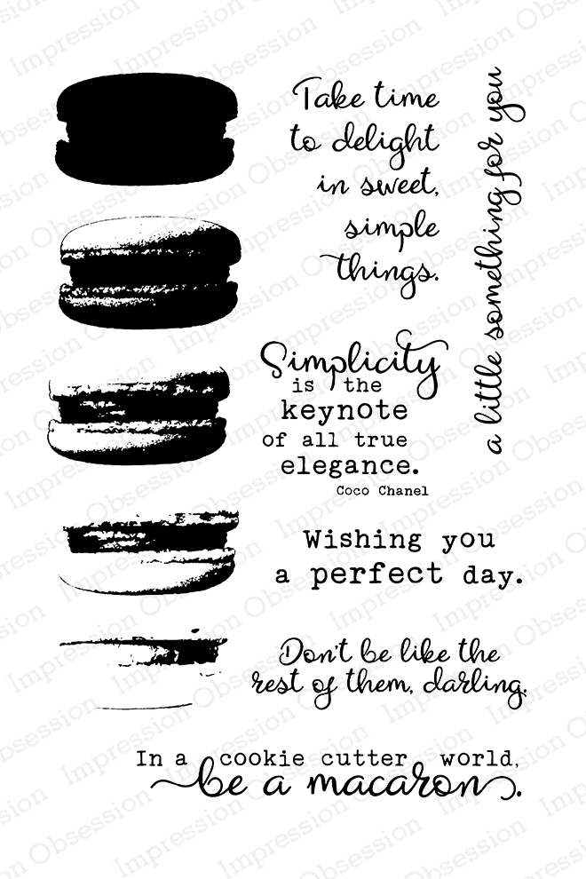 Impression Obsession Clear Stamp MACARON Set CL808 zoom image