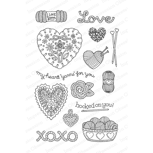 Pink Ink For Impression Obsession Clear Stamp YARN FOR YOU CL813 Preview Image