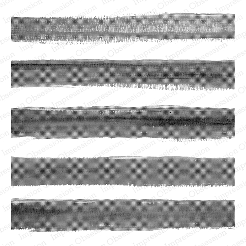 Impression Obsession Cling Stamp WIDE WATERCOLOR STRIPE Cover a Card CC299 Preview Image