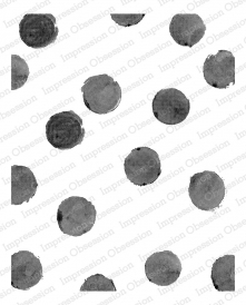 Impression Obsession Cling Stamp WATERCOLOR DOTS L20424