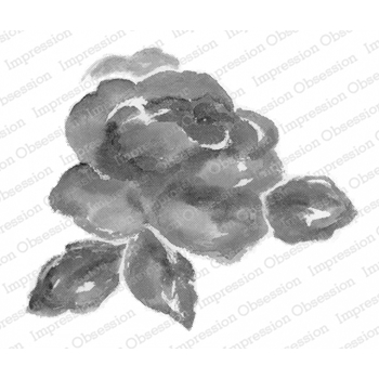 Impression Obsession Cling Stamp WATERCOLOR ROSE L20423*