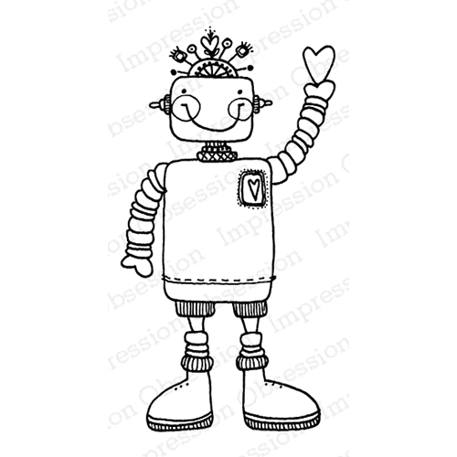 Impression Obsession Cling Stamp WILLY ROBOT D19698* Preview Image