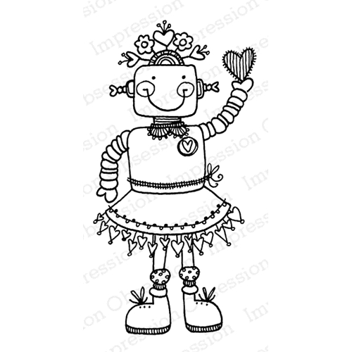 Impression Obsession Cling Stamp GIRLIE BOT D19696* Preview Image