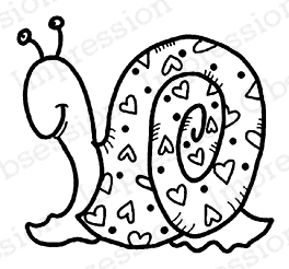 Impression Obsession Cling Stamp SNAIL LOVE C21033* zoom image