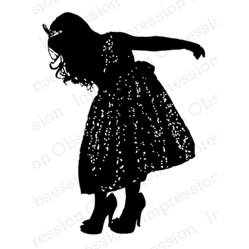 Impression Obsession Cling Stamp PRINCESS SILHOUETTE D13624*