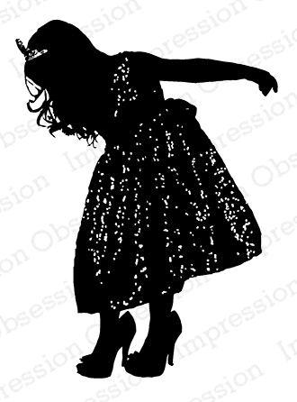 Impression Obsession Cling Stamp PRINCESS SILHOUETTE D13624* zoom image