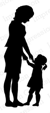 Impression Obsession Cling Stamp MOTHER AND CHILD C7911 Preview Image