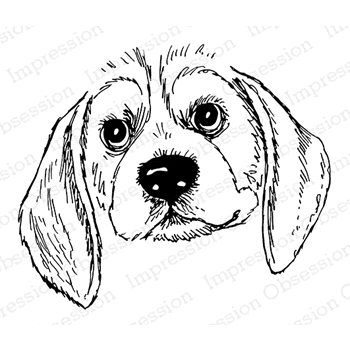 Impression Obsession Cling Stamp BEAGLE E7900