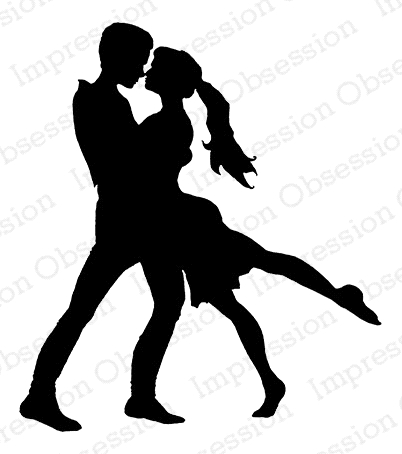 Impression Obsession Cling Stamp DANCING COUPLE E7912 Preview Image