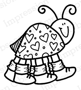 Impression Obsession Cling Stamp LOVE BUG C21024* Preview Image