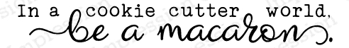 Impression Obsession Cling Stamp BE A MACCRON B13616 Preview Image