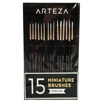 Arteza DETAIL PAINT BRUSHES Set of 15 artz8009