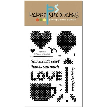 Paper Smooches IN STITCHES Clear Stamps J1S301