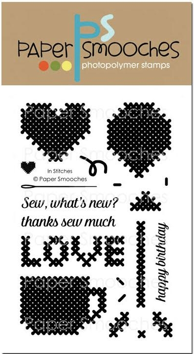 Paper Smooches IN STITCHES Clear Stamps J1S301 zoom image