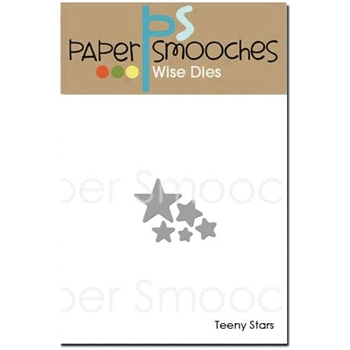 Paper Smooches TEENY STARS Wise Dies J1D425