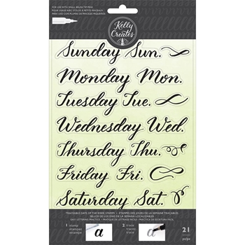 Kelly Creates TRACEABLE DAYS OF THE WEEK Clear Stamps 346395