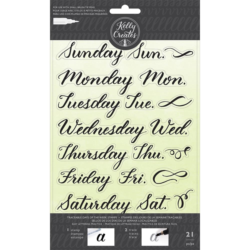 Kelly Creates TRACEABLE DAYS OF THE WEEK Clear Stamps 346395 zoom image