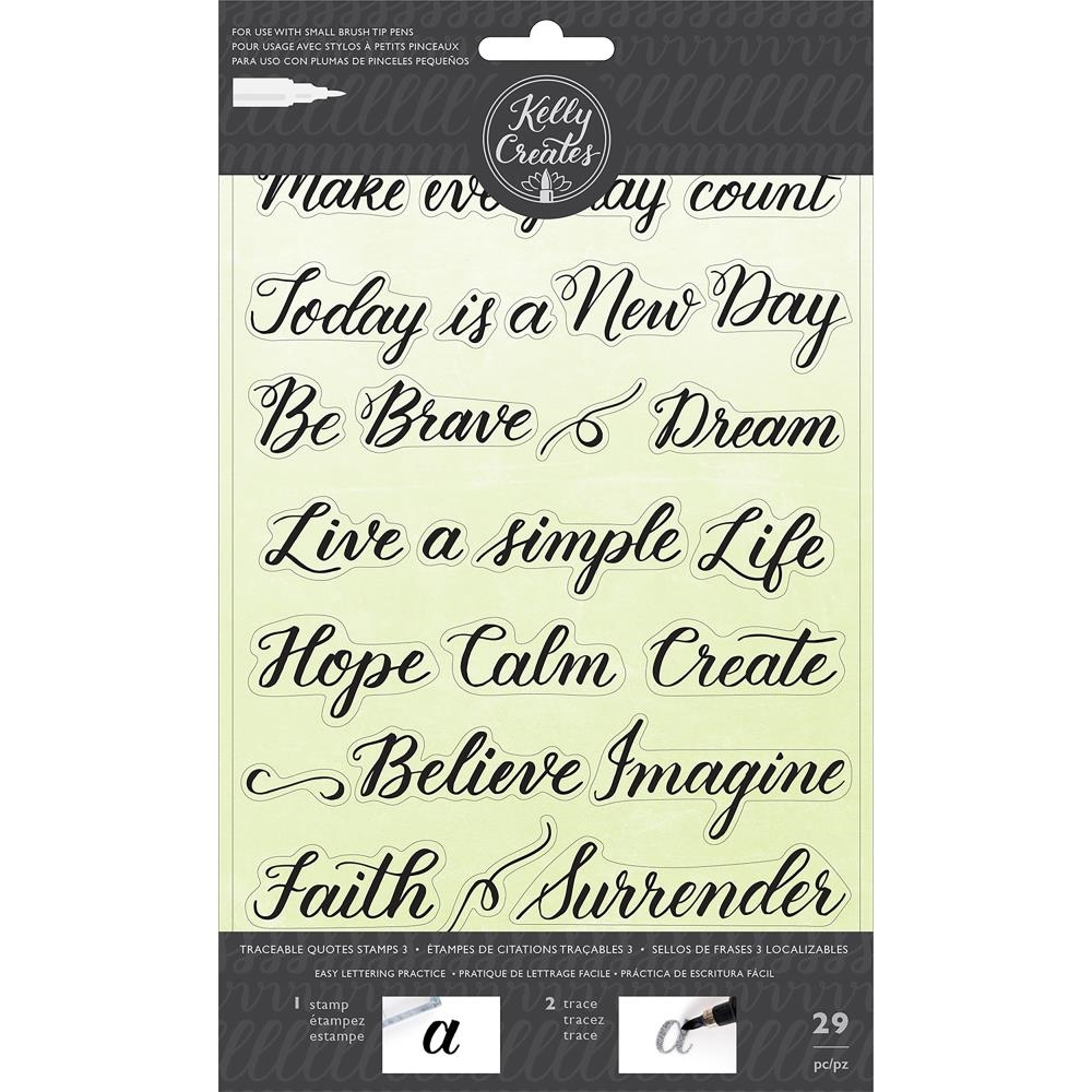 Kelly Creates TRACEABLE QUOTES 3 Clear Stamps 346414 zoom image