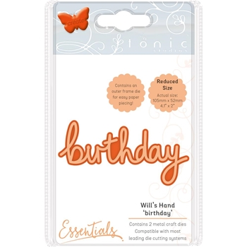 Tonic BIRTHDAY Miniature Moments Sentiment Die 1882e